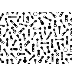 seamless zipper pullers background vector image vector image