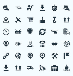 set of simple systematization icons elements vector image