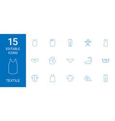 15 textile icons vector