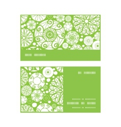 abstract green and white circles horizontal stripe vector image