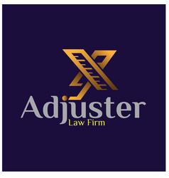 adjuster logo designs for construction logo vector image