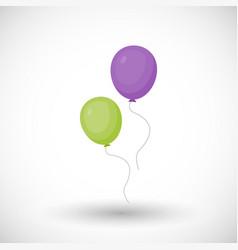 Air balloon flat icon vector