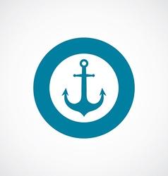 Anchor icon bold blue circle border vector