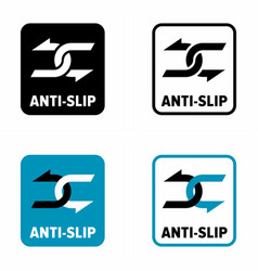Anti slip information sign vector