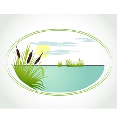 Background with lily and cane card vector image