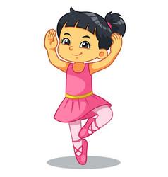 Ballerina girl practicing ballet vector