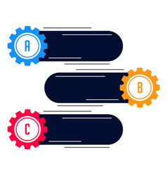 Blank gears infograph modern banner vector