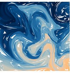 Blue orange digital marbling elegant marbled vector