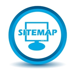 Blue sitemap icon vector image