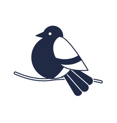 christmas bird isolated icon vector image
