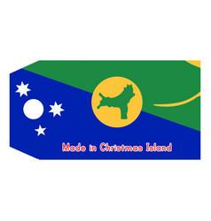 christmas island flag on price vector image