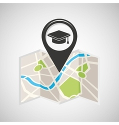 College map pin pointer design vector