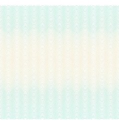 color gradient background with waves guilloche vector image