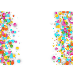 Colored carnaval confetti background with vector