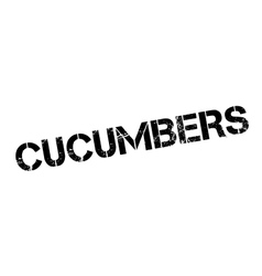 Cucumbers rubber stamp vector