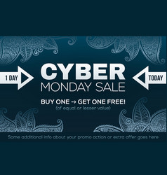 cyber monday sale fashion style banner template vector image