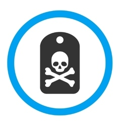 Death Sticker Rounded Icon vector image