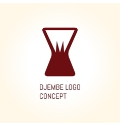 Djembe logo concept vector image