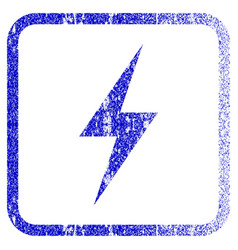 Electricity framed textured icon vector