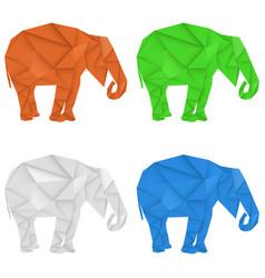 elephant polygonal vector image