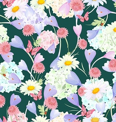 fashion seamless texture with floral design vector image