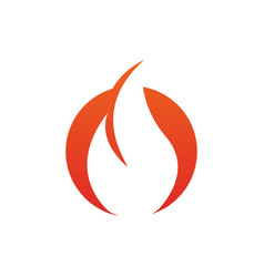 fire flame icon design template isolated vector image