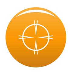 Focal target icon orange vector