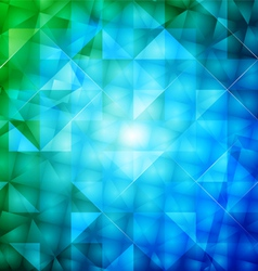 Glossy square shape abstract background vector image