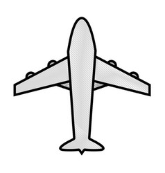 Grated airplane travel transport in the sky flight vector