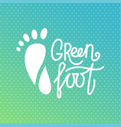 Green foot health center logo orthopedic eco vector