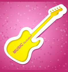 Guitar music background vector