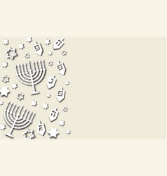 Hanukkah background paper cut design vector