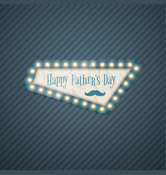 Happy fathers day greeting card in retro style vector