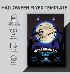 Happy halloween party flyer design template vector