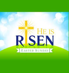 he is risen card vector image