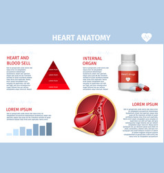 heart vessel therapy healthcare realistic banner vector image