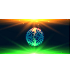 Indian flag made with lights background vector