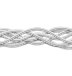 Isolated grey tech wires on white background vector
