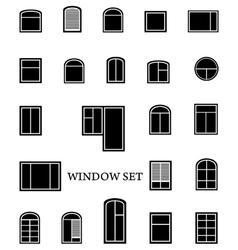 Isolated window set vector