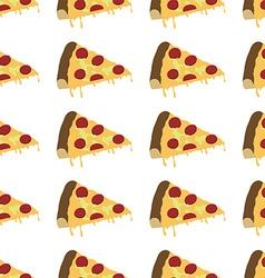 Italian pizza slice pattern seamless vector