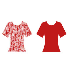 lady t-shirt composition of binary digits vector image