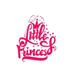Little Princess Calligraphic patch Unique Custom vector image