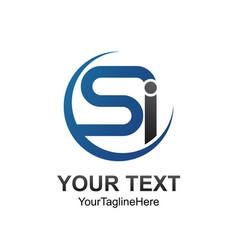 Lletter si initial alphabet logo design template vector