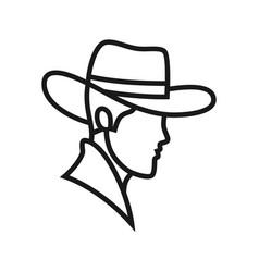 Logo-cowboy vector