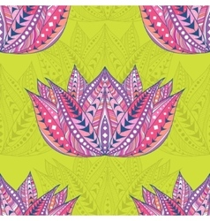 Lotus seamless ethnic pattern vector