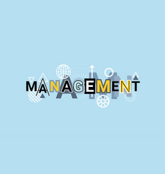management project business creative word over vector image