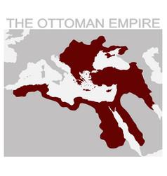 Map of the ottoman empire vector