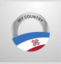 Mari-el my country flag badge vector