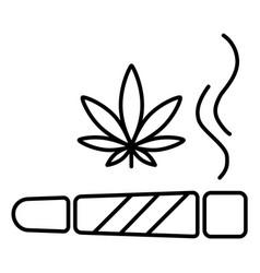 Marijuana joint icon vector
