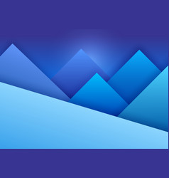 Material design background with mountain landscape vector